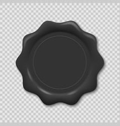 wax seal on transparent background vector image
