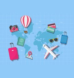 World map travel concept vector
