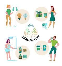 zero waste flat concept vector image