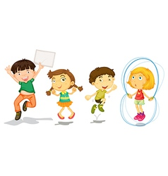 Active kids playing vector image vector image