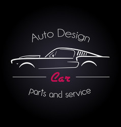 auto company logo design concept vector image vector image