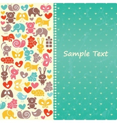 Baby blue background vector image vector image
