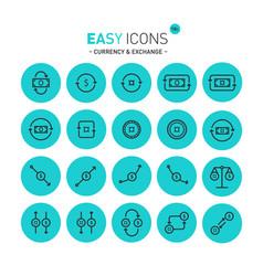 easy icons 11c exchange vector image vector image