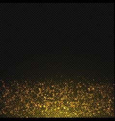 gold glitter dust texture transparent vector image