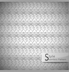 lattice eyes grey vintage seamless pattern vector image