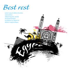 travel egypt grunge style vector image