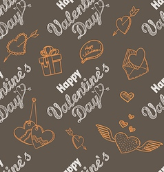 14th February seamless pattern vector image vector image