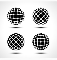 abstract globe design icon vector image vector image