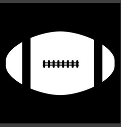 american football ball it is the white color icon vector image vector image