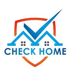 check blue house illuminated vector image