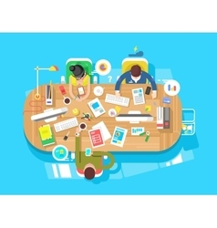 Conference office workspace vector image