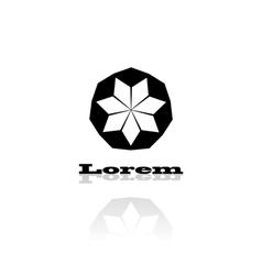 Black logo stylized flower vector