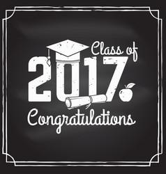 congratulations graduates class of 2017 vector image