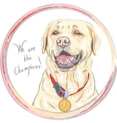 dog breed Labrador Retriever champion vector image vector image