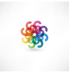 Full color abstract figure of the numbers 6 vector image