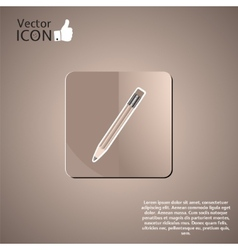 Pencil Button on the Background vector image