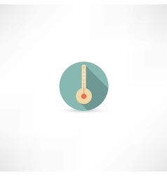 thermometer icon vector image vector image