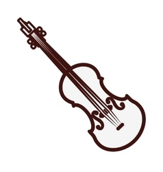violin or viola icon image vector image