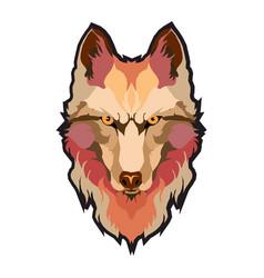 Wolfs head low poly geometric polygonal flat vector
