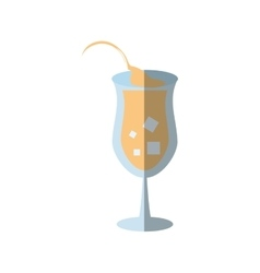 cartoon cocktail glass juice sign shadow vector image