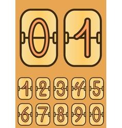 Countdown timer cartoon scoreboard vector image vector image