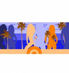 disco beach party vector image vector image