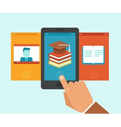 e-learning app vector image vector image