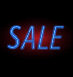 For sale sign neon light vector