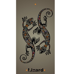 Gecko lizard in in tattoo style vector image vector image