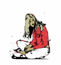 girl portraitl vector image