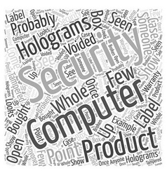 security holograms Word Cloud Concept vector image vector image
