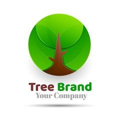 Tree Logo abstract design template Eco Green vector image
