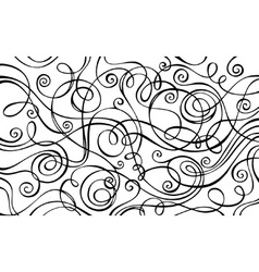 Abstract decorative doodles background vector image