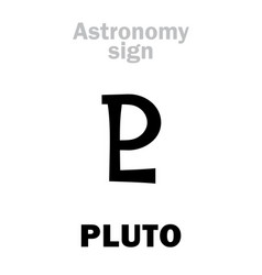 Astrology astronomical sign of pluto vector