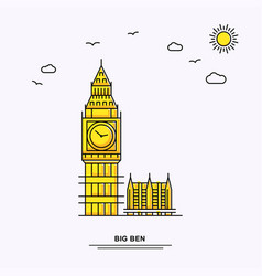 big ben monument poster template world travel vector image