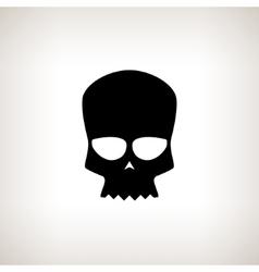 Biker Skull Isolated vector image