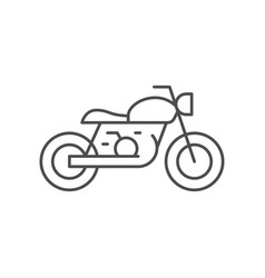 cafe racer motorcycle line outline icon vector image