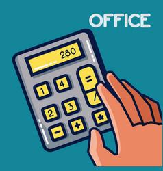 Calculator office element vector
