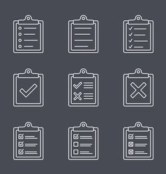 Check List Line Icon vector image
