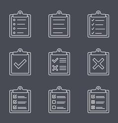 Check list line icon vector