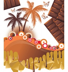 chocolate paradise background vector image