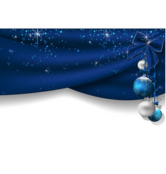 christmas background with blue curtains vector image