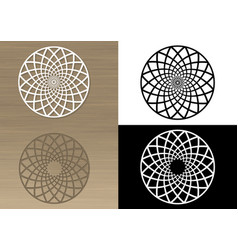 Circular ornament for napkin or stencil vector