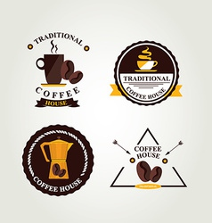 Coffee label icon menu vector
