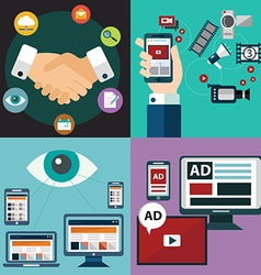 Collection of flat and colorful business vector
