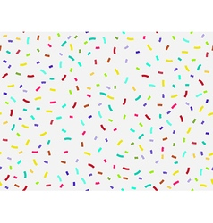 Colorful confetti seamless pattern vector