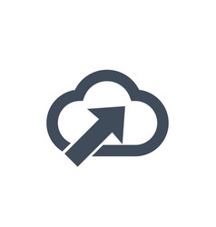 computer cloud storage upload information icon vector image