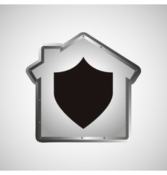 Computer data protection shield icon vector