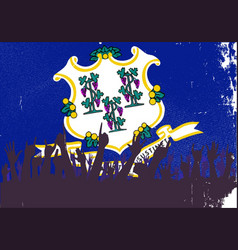Connecticut state flag with audience vector