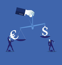 currency balance concept vector image